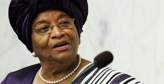 La Présidente du Liberia Ellen Johnson Sirleaf