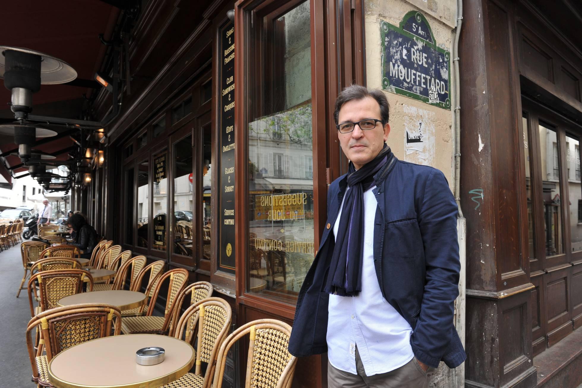 José María Ridao, en una terraza de París