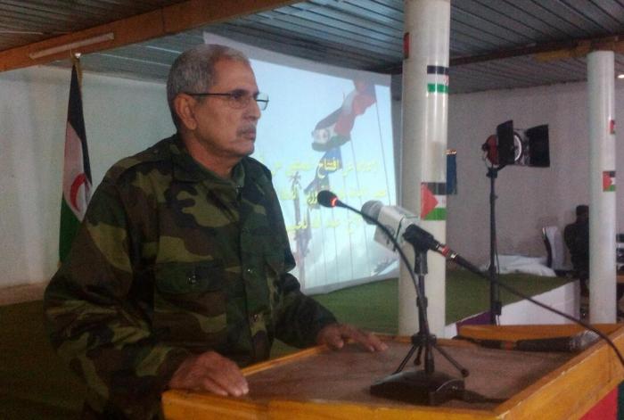 Abdellah Lahbib Bilal, «ministre de la Défense» du Polisario.