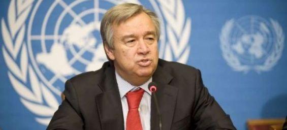 Le nouveau secrétaire général, Antonio Guteress.