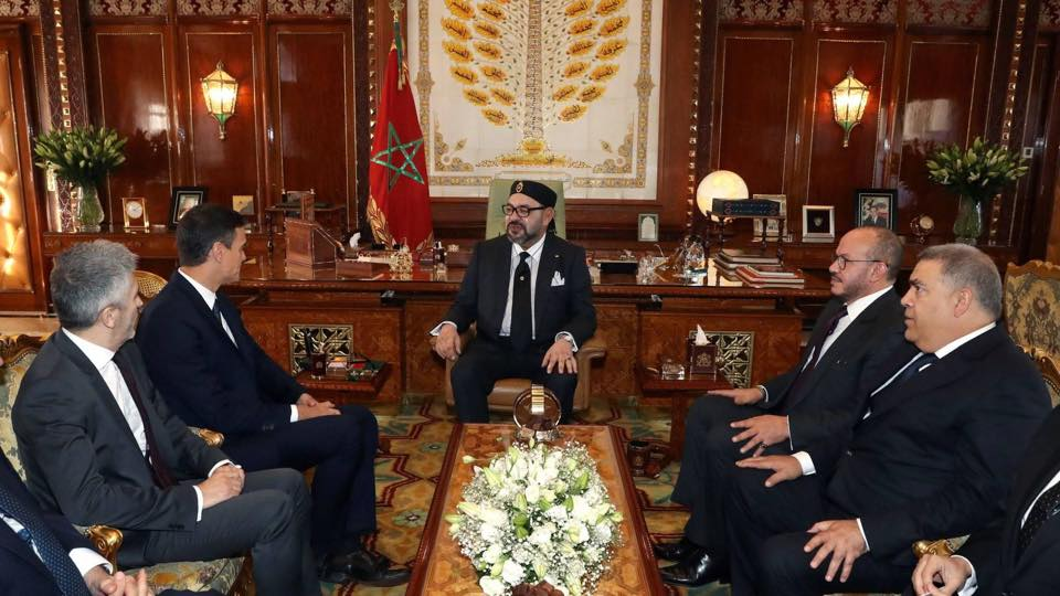 Sa Majesté le Roi Mohammed VI, que Dieu L'assiste, a reçu ce jour, au Palais Royal de Rabat, Son Excellence Monsieur Pedro Sanchez, Président du Gouvernement Espagnol,