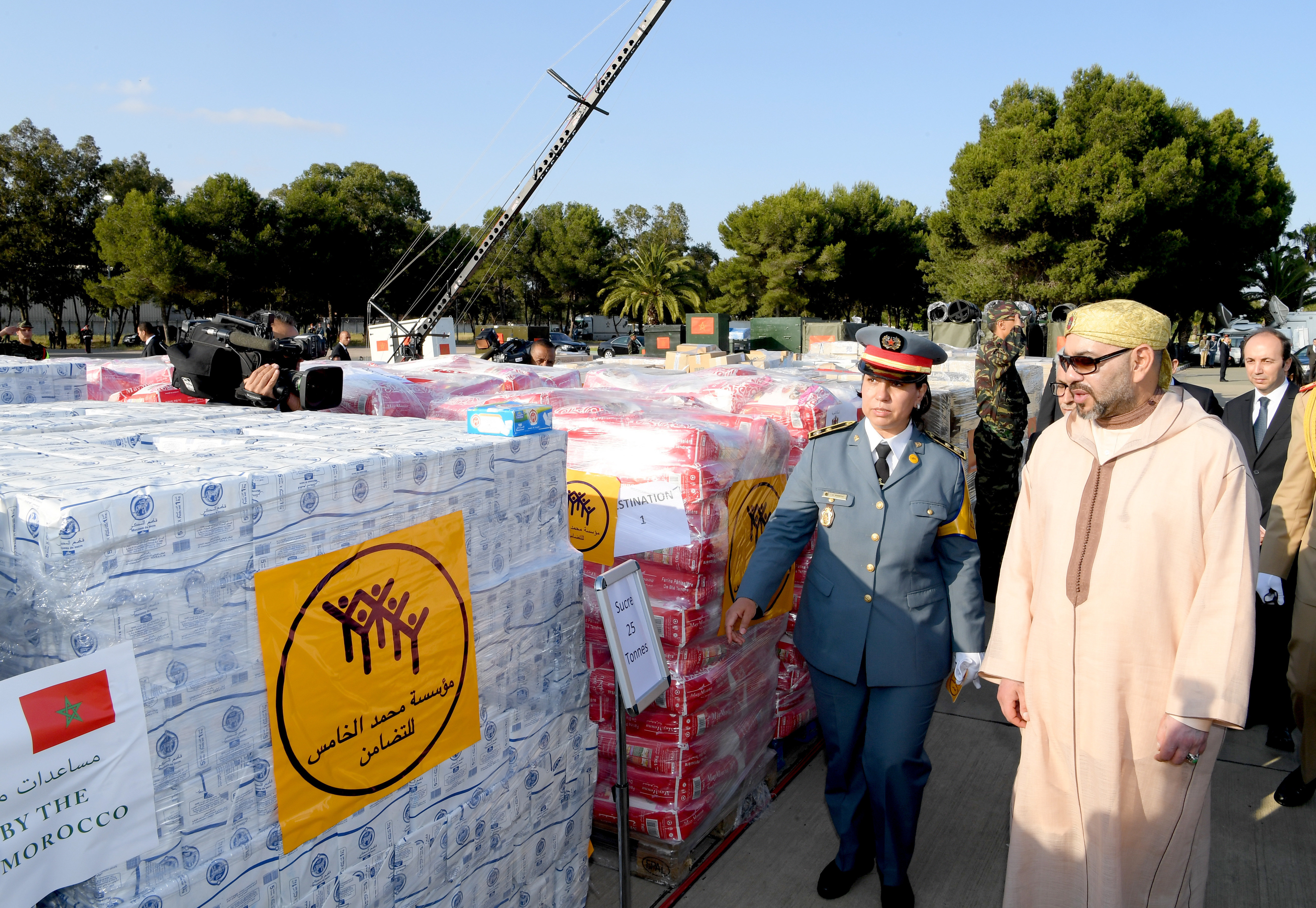 Le Maroc envoie de l'aide humanitaire aux Palestiniens