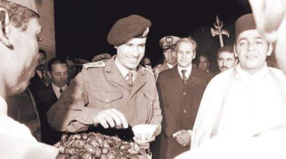الحسن الثاني رفقة معمر القذافيl