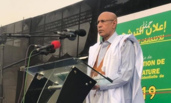 Mauritania's former Defence Minister Mohamed Ould Ghazouani, who is running for presidential elections.