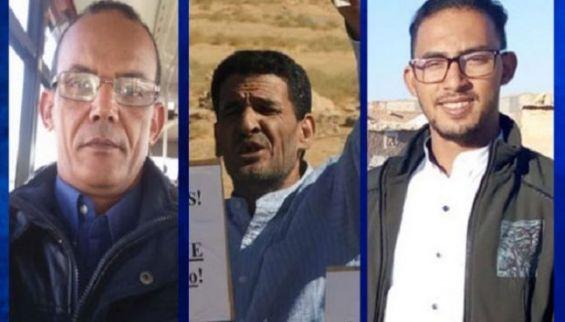 Moulay Abba Bouzeid, Fadel Breika et Mahmoud Zeidan sont en prison depuis cinq mois.