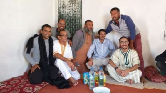The three Sahrawi activists held since June in the Tindouf camps.