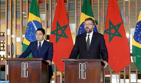 """Le Brésil soutient les efforts du Maroc pour parvenir à """"une solution réaliste"""" à la question du Sahara"""
