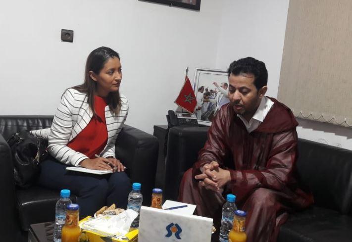 أخبار الصحراء الشرقاوي يستقبل مسؤولة بالسفارة الأمريكية بمقر لجنة العيون