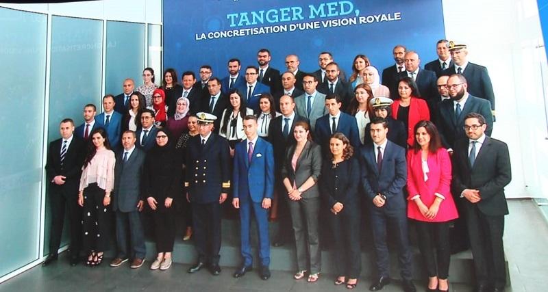Le Prince Héritier du Maroc Moulay El Hassan, représentant le Roi du Maroc, inaugure le port de Tanger Med II.
