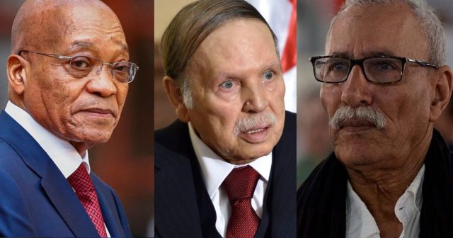 Jacob Zuma President of South Africa, Abdelaziz Bouteflika President of Algeria and Brahim Ghali leader of Polisario Mlitia