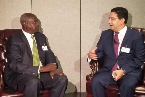 Le ministre des Affaires étrangères et de la coopération internationale de la République du Sud Soudan, Nhial Deng Nhial
