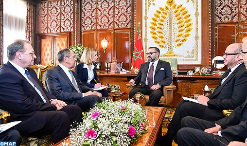 Sa Majesté le Roi Mohammed VI, que Dieu L'assiste, a reçu en audience ce jour 25 janvier 2019, le ministre des Affaires étrangères de la Fédération de Russie, Monsieur Serguei Lavrov,