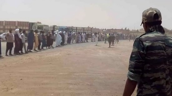Tindouf camps: Tradesmen stage demonstrations in front of Brahim Ghali's offices