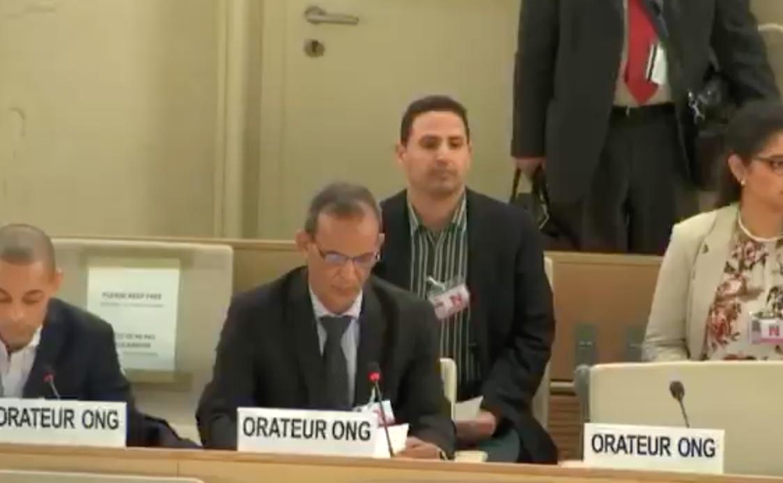 مجلس حقوق الإنسان : الناشط الصحراوي فاضل بريكة يدين انتهاكات البوليساريو و يحمل الجزائر المسؤولية