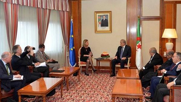 Mogherini avec Sellal