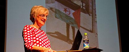 Lena Thunberg est une journaliste et activiste suédoise Pro-Polisario.