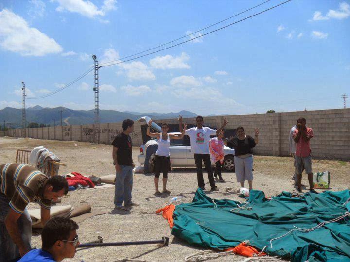 La mise en place d'un camp de protestation devant le siège du Haut-Commissariat pour les réfugiés des camps de Tindouf