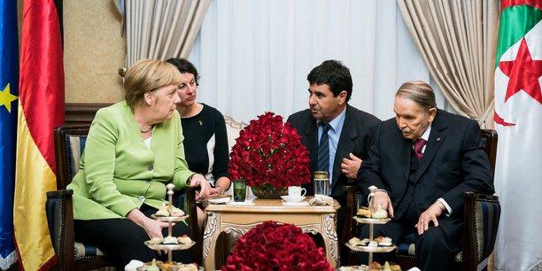 Angela Merkel en Algérie