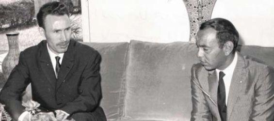 الملك الحسن الثاني والرئيس الجزائري الهواري بومدين