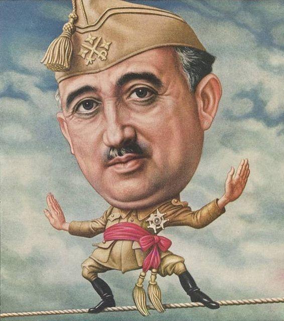 Caricature de Franco, en couverture de Time MagazineTime MagazineTime Magazine, le 18 mars 1946