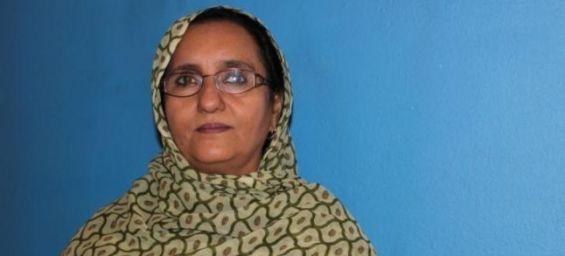 Khadija Hamdi, veuve de Mohamed Abdelaziz, chef du Polisario / DR