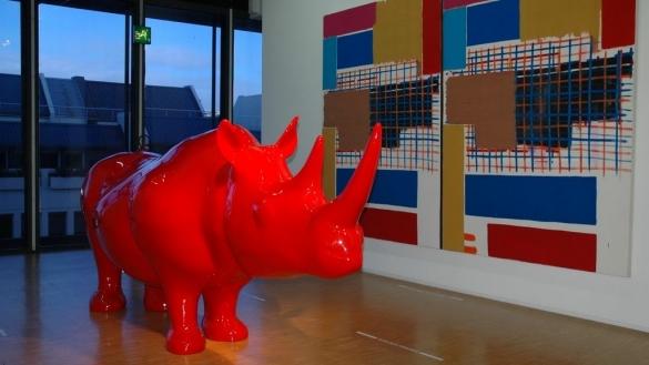 A l'intérieur du Centre George Pompidou à Paris.