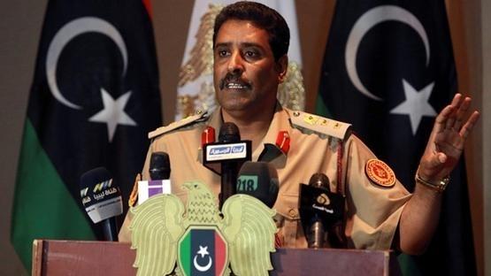 Le porte-parole de l'armée libyenne, le colonel Ahmed Al Mesmari.
