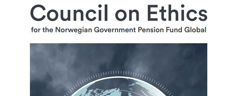 council of ethics Government Pension Fund Global