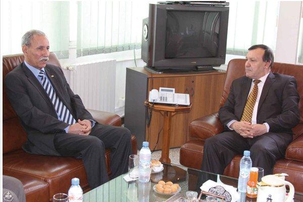 Brahim Ghali avec Chaabane Nounakel, directeur de la Radio Nationale d'Algérie.