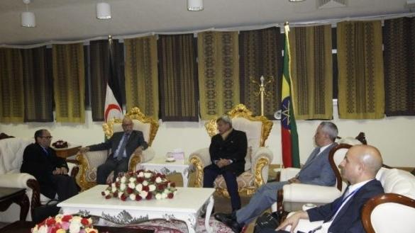 C'est Hamdi Khalil Mayara, ministre délégué chargé de l'Afrique de la pseudo-Rasd, lui-même simple invité, qui a pris la place d'un supposé officiel éthiopien recevant Brahim Ghali à la salle d'honneur de l'aéroport d'Addis-Abeba.
