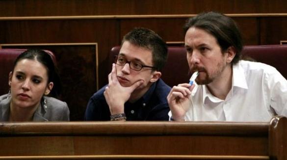 """Pablo Iglesias, chef de parti d'extrême-gauche espagnol """"Podemos""""."""