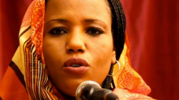 L'activiste et porte-voix du Polisario, Aziza Brahim.