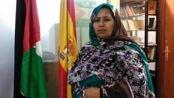 "La soi-disant ""représentante du polisario en Espagne"", Kheira Bulahi Bad."