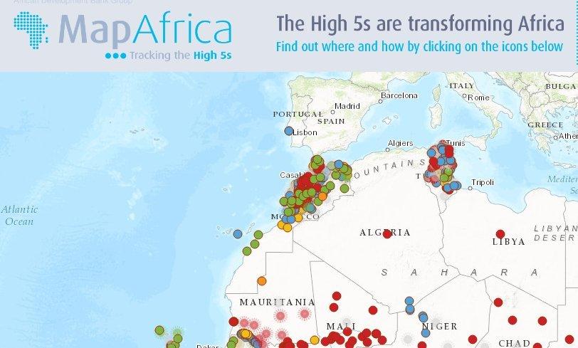 """Carte du Maroc """"Map Africa"""""""