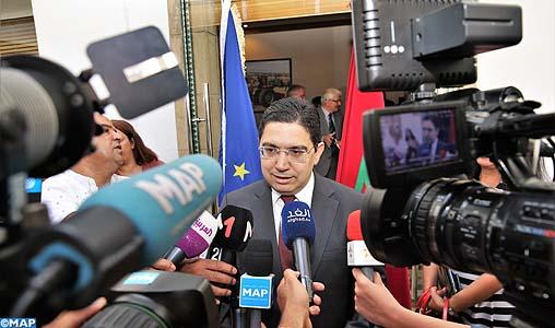 Le paraphe de l'accord de pêche Maroc-UE consacre un processus de négociations qui s'est déroulé dans des conditions empreintes de consensus (M. Bourita)