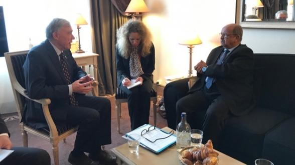 La rencontre entre Horst Köhler et le MAE algérien, Abdelkader Messahel, a eu lieu début mars à Francfort.