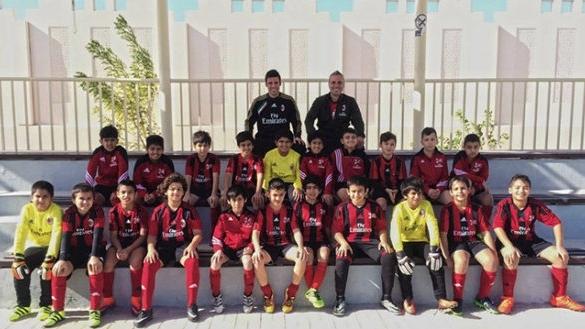 L'académie de football de l'AC Milan à Laâyoune.