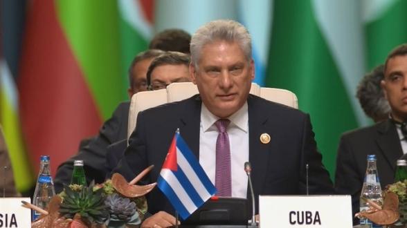 Le président cubain Miguel Díaz-Canel Bermúdez.