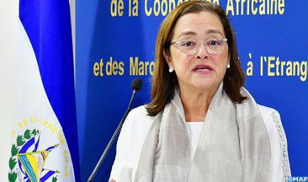 Le chef du polisario, Brahim Ghali, isolé au milieu de chefs d'États latino-américains, lors de l'investiture le 1er juin  du nouveau président de la république du Salvador, Nayib Bukele.
