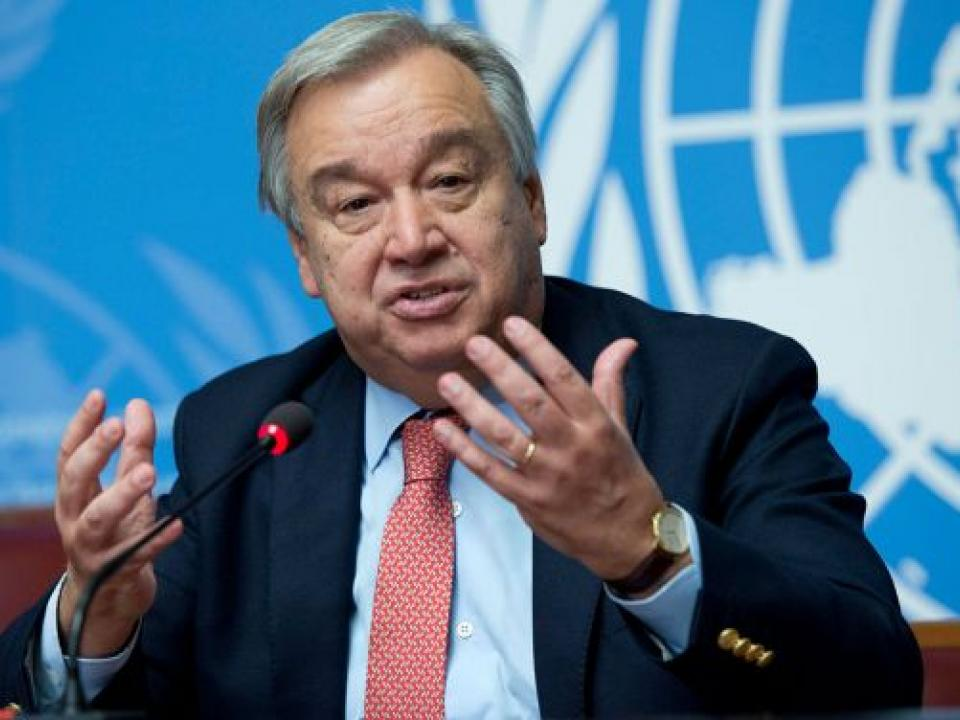 Antonio Guterres, the United Nations Secretary-General.