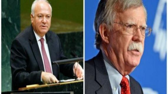 Miguel Angel Moratinos et John Bolton