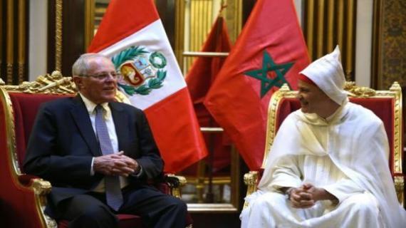 L'ambassadeur du Maroc au Pérou lors de la remise de ses lettres de créance