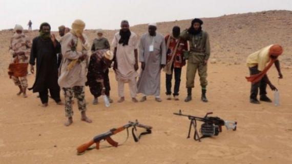 Faction du groupe terroriste Ansar Dine au Mali, le 16 mai 2012