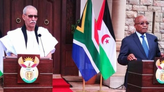 Le président sud-africain Jacob Zuma a reçu le chef du Polisario, Brahim Ghali.dans son palais à Pretoria.