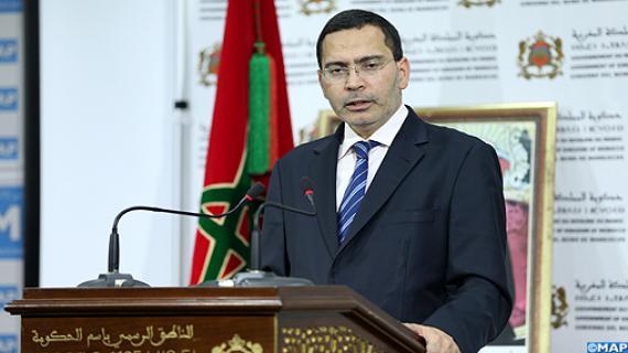 le ministre délégué chargé des Relations avec le Parlement et la Société civile, porte-parole du gouvernement, Mustapha El Khalfi.