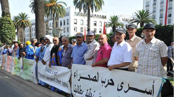 Des victimes du polisario manifestent devant le parlement