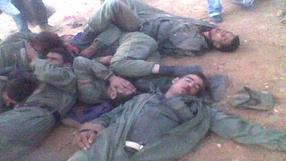 تم قتل و ذبح 12 شهيدا من عناصر الوقاية المدنية و الأمن