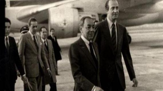 Les rois Hassan II et Juan Carlos. / DR