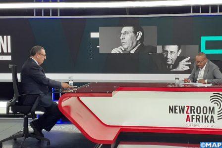 يوسف العمراني  يدحض الأطروحات المغرضة للانفصاليين ورعاتهم على قناة جنوب – إفريقية
